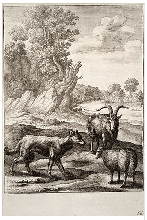 Wenceslas Hollar - The wolf and the lamb (State 1)