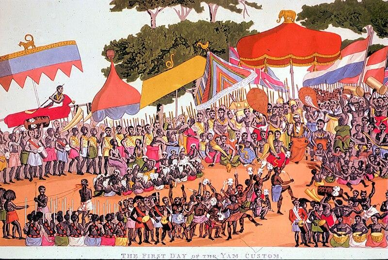 Ashanti yam ceremony, nineteenth century by Thomas Edward Bowdich