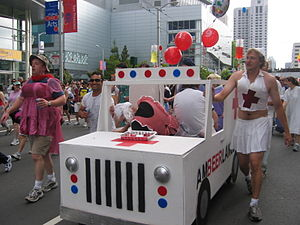 """Bay to Breakers """"AmBEERlance"""". A keg..."""