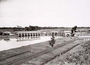 English: Dam in the Citarum river Nederlands: ...