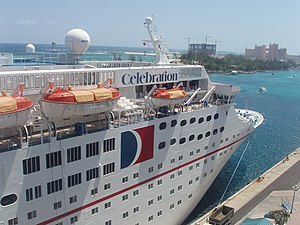 English: The cruise ship Celebration when it w...