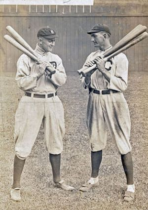 Ty Cobb and Joe Jackson in Cleveland