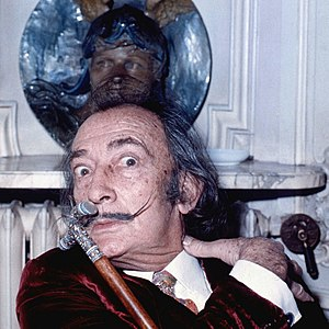 English: portrait of Salvador Dali taken in Ma...