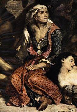 Scène des massacres de Scio est un tableau d'Eugène Delacroix. Ce tableau représente les massacres perpétrés à Chios par les Ottomans lors de la guerre d'indépendance grecque.