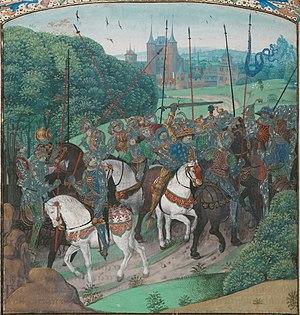 Français : Charles VI saisi de folie non loin ...