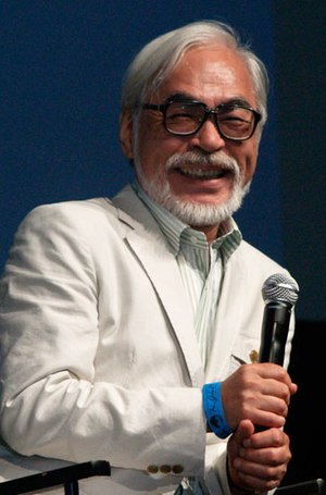 English: Hayao Miyazaki at the 2009 San Diego ...