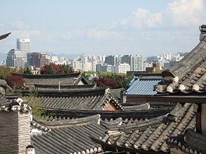 Bukchon Hanok Village in Jongno-gu, Seoul, Sou...