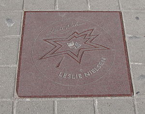 Leslie Nielsen's star on Canada's Walk of Fame