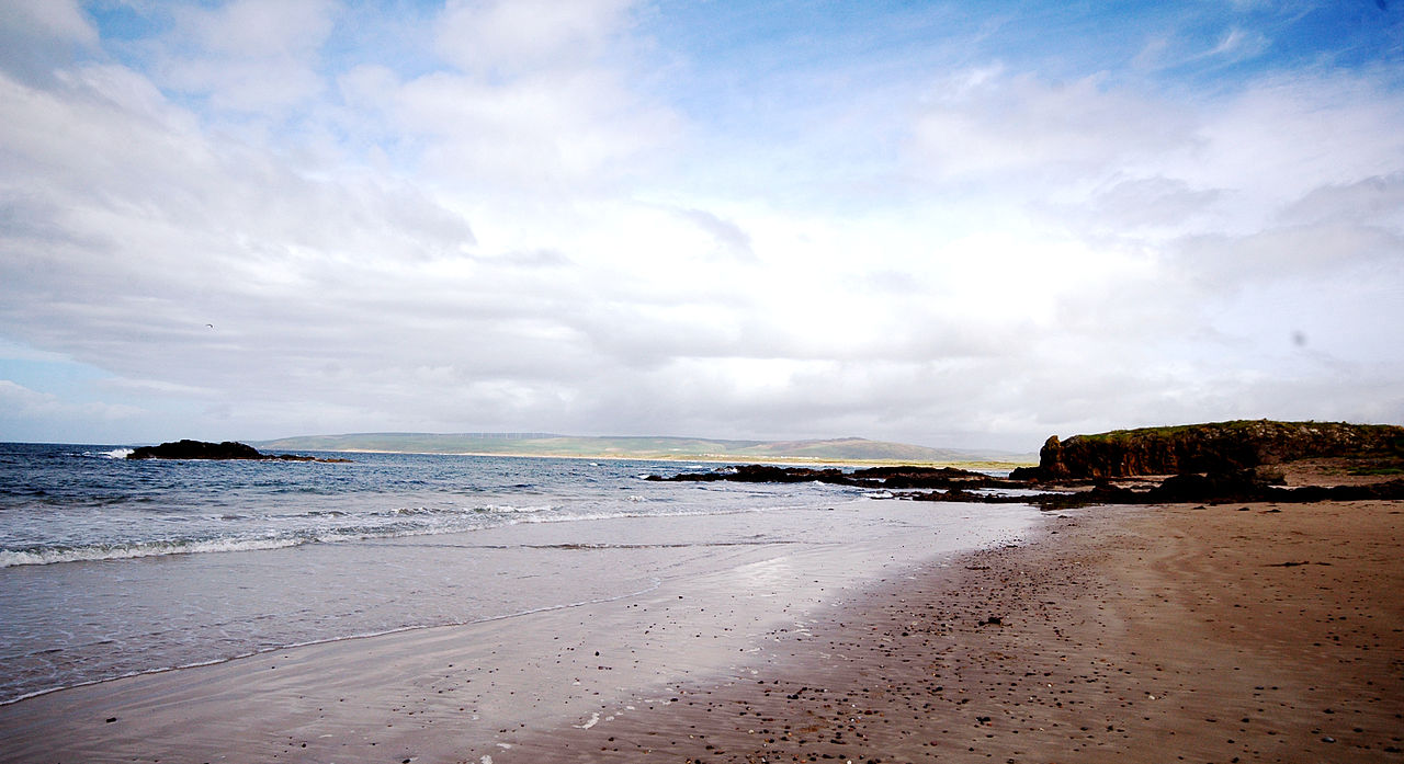 Machrihanish Beach; from Wikimedia Commons.