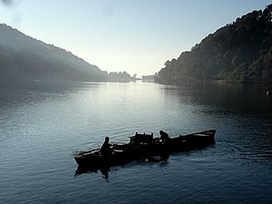 Nainital lake in Kumaon Himalayas, (Uttarakhand)