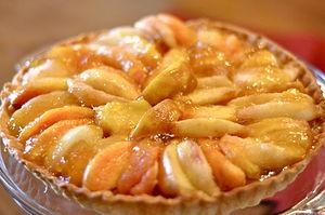 English: Peach-Frangipane Tart.