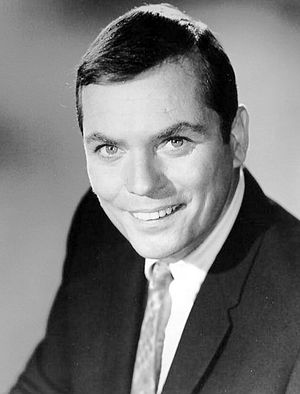 Publicity photo of game show host Peter Marshall.
