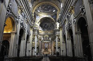 Nederlands: Interieur van de Chiesa Nuova te Rome