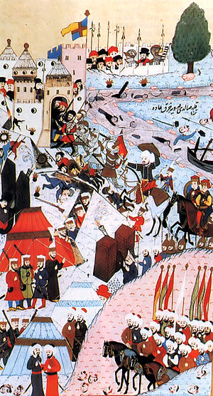 The 1456 Siege of Belgrade, as depicted by Tur...