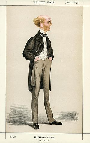 Caricature of Thomas Hughes M.P. (1822-1896). ...