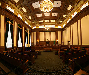 The interior of the Wasington State Supreme Court