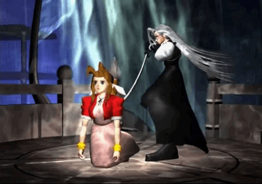 Sephiroth kills Aerith in a scene which has be...