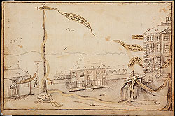 Raising the Liberty Pole in New York City, 177...