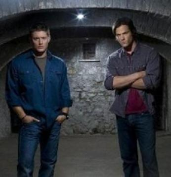 Jensen Ackles as Dean Winchester (left) and Ja...