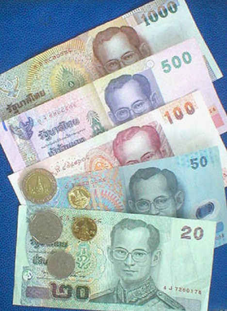The Thai Baht, Official Currency of Thailand.