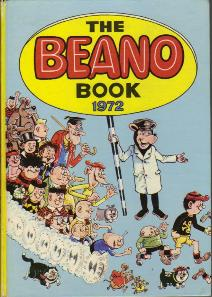 The cover of the 1972 Beano Book