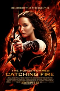Poster for 2013 dystopian action film The Hunger Games: Catching Fire