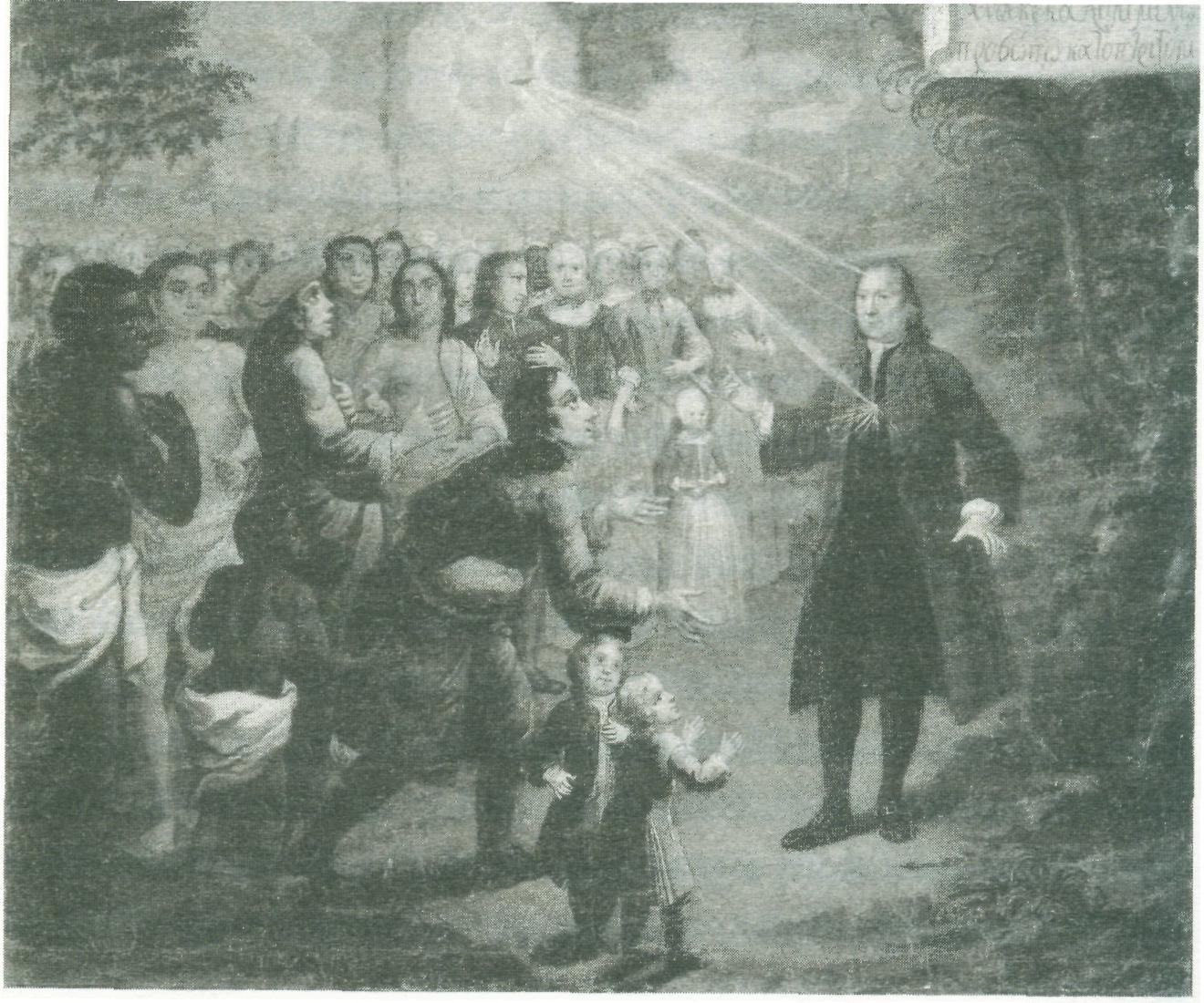 Greve Zinzendorf, herrnhutismens grundare, predikar