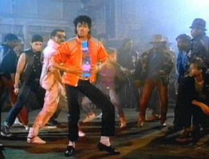 "Jackson in the music video for ""Beat It&q..."