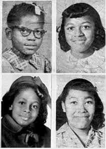 The four girls killed in the bombing (Clockwis...