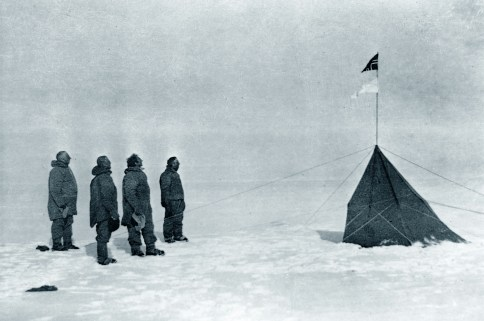 Amundsen at the South Pole. Photo: Wikipedia