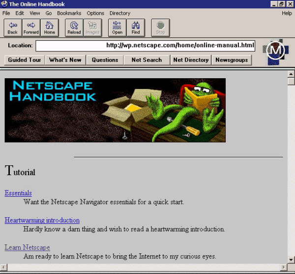 Netscape Navigator, browser created by Mosaic ...