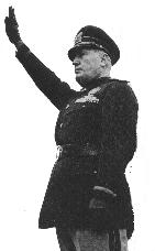 After taking power, Mussolini was often seen i...