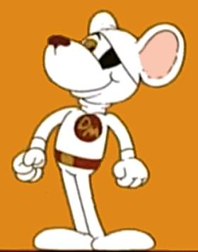 Danger Mouse, as seen in the series' title seq...