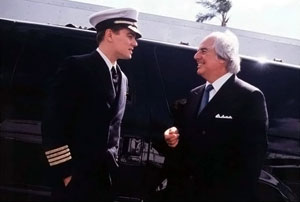 Leonardo DiCaprio and the real Frank Abagnale.