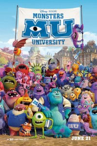 Poster for 2013 animated comedy film Monsters University