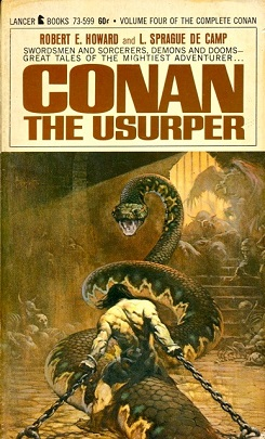 The cover of Conan the Usurper (1967) by Frank...