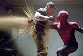 Amputee boxer Baxter Humby, as Spider-Man, thr...