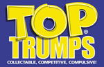 Winning Moves' Top Trumps logo design with the...