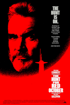 hunt for red october movie poster