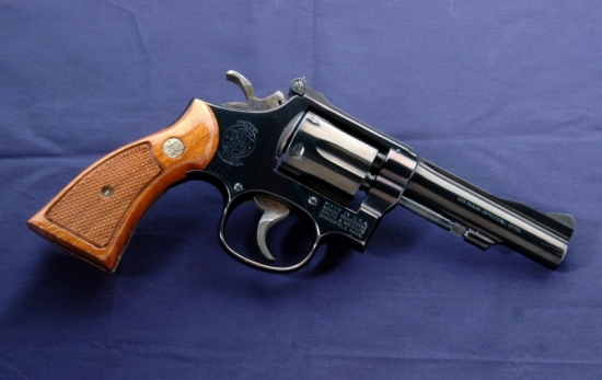 Smith & Wesson K38 Combat Masterpiece Model 15 Standard Issue Revolver - USAF (Image Wikipedia).