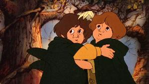 Merry (right) and Pippin in Ralph Bakshi's ani...