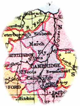 Map of the Cambridgeshire area (1904)
