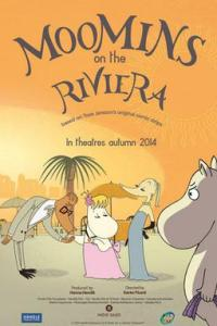 Poster for 2015 animated comedy Moomins on the Riviera