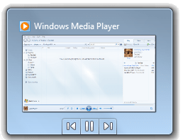 The thumbnail viewer of Windows Media Player 1...