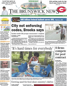 The Brunswick News, the city's locally-publish...