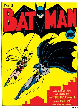 Batman #1 (Spring 1940). Art by Bob Kane and J...