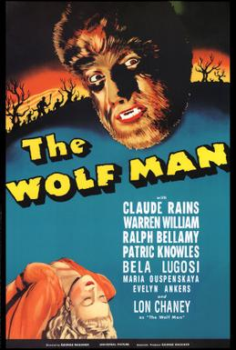 The Wolf Man - Original film poster (1941)  Universal Pictures/Wikipedia
