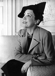 Photograph of Elsa Schiaparelli wearing a