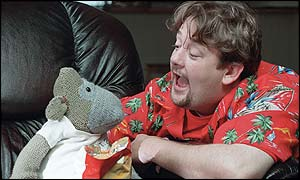 Monkey and Al (portrayed by Johnny Vegas), as ...