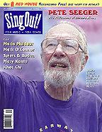 Seeger at 86 on the cover of Sing Out! (Summer...